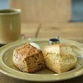 竹ノ塚カフェ:STRING STAND eito|きなこ餡子&プレーンのスコーンプレート