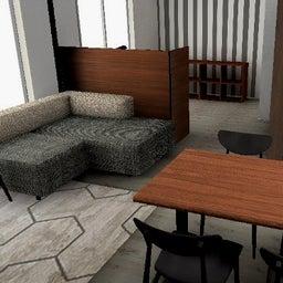 画像 マンションの家具の配置提案 ④ リビングと隣接する洋室とつなげて家具を配置!家具の配置換え提案も の記事より 27つ目
