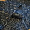 両面型藍染め 木綿のきものの画像
