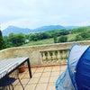 Camping à la maison バルコニーでキャンプする娘@南フランスの暮らし...の画像