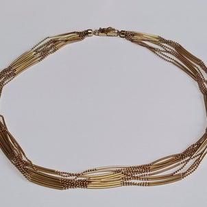 K18デザインネックレスを買取ました!エコライフ松山市貴金属出張買取遺品整理指輪アクセサリー時計の画像