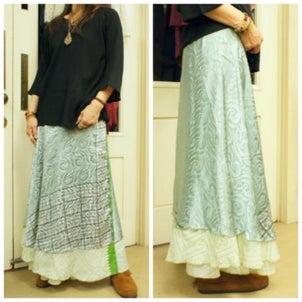 インドサリー☆ラップスカートの画像