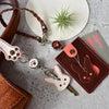 ■うさぎモチーフの革小物【オーダーメイド制作例☆革工房オキシオクラフト】の画像