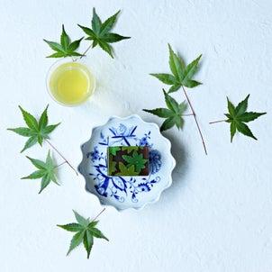 新緑の季節にぴったりな和菓子の画像