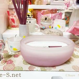 1つ1つ手作り  悲しみを悲しみだけにしないように ピンクの横置き香炉の画像