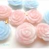 残り僅か☆ピンクモルガナイトさんとアクアマリンさんのとっても愛らしいバラのペンダントトップ♪の画像