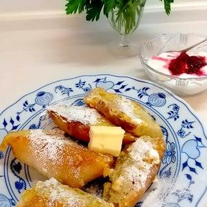 今日の朝食プレートの画像