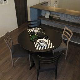 画像 グレー色の内装にブラック色の家具を提案したコーデ!グレー色のチェアもかっこいい! の記事より 6つ目
