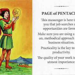 画像 プラクティカルウィズダムタロット コインペイジ PAGE of PENTACLES の記事より 1つ目