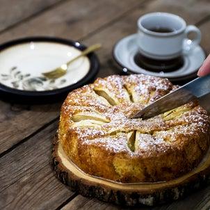 ★【スイーツの作り方写真】りんごとシナモンのケーキの画像