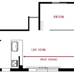 画像 マンションの家具の配置提案 ④ リビングと隣接する洋室とつなげて家具を配置!家具の配置換え提案も の記事より 18つ目