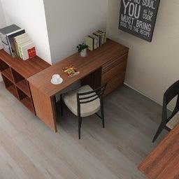画像 マンションの家具の配置提案 ⑤ マンションの構造体の柱がお部屋の角にある間取りの家具の配置術 の記事より 18つ目