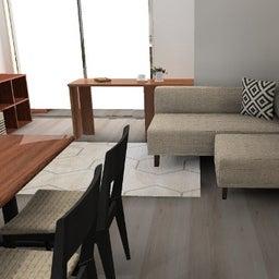 画像 マンションの家具の配置提案 ⑤ マンションの構造体の柱がお部屋の角にある間取りの家具の配置術 の記事より 12つ目