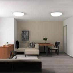 画像 マンションの家具の配置提案 ⑤ マンションの構造体の柱がお部屋の角にある間取りの家具の配置術 の記事より 22つ目