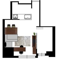 画像 マンションの家具の配置提案 ⑤ マンションの構造体の柱がお部屋の角にある間取りの家具の配置術 の記事より 6つ目