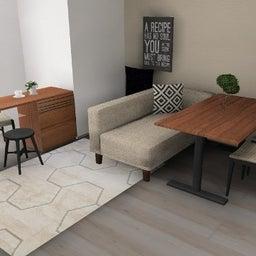 画像 マンションの家具の配置提案 ⑤ マンションの構造体の柱がお部屋の角にある間取りの家具の配置術 の記事より 8つ目