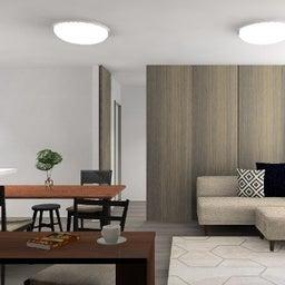 画像 マンションの家具の配置提案 ⑤ マンションの構造体の柱がお部屋の角にある間取りの家具の配置術 の記事より 17つ目