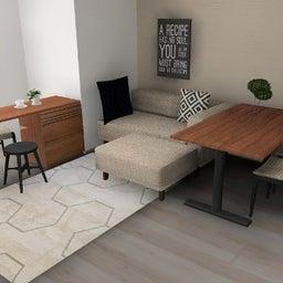 画像 マンションの家具の配置提案 ⑤ マンションの構造体の柱がお部屋の角にある間取りの家具の配置術 の記事より 7つ目
