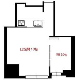 画像 マンションの家具の配置提案 ⑤ マンションの構造体の柱がお部屋の角にある間取りの家具の配置術 の記事より 1つ目