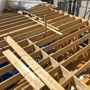建て方 2階 床 根太 施工の画像
