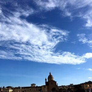 空を見上げて雲を観察の画像