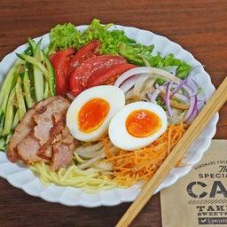 画像 焼豚とたっぷり野菜の胡麻ドレつゆかけ冷やし中華 の記事より 1つ目