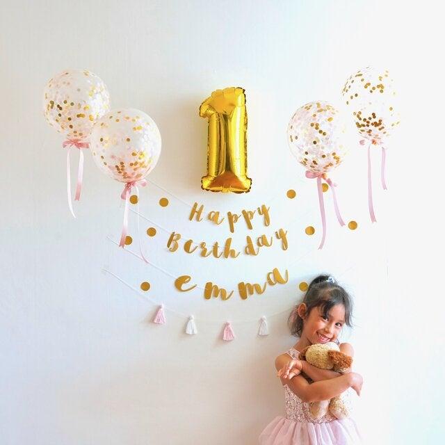 1歳のお誕生日に♡バルーンキットもちょこっとカスタマイズ♡♡