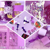 【教室レポート】紫がいっぱい!自由に形にしようの画像