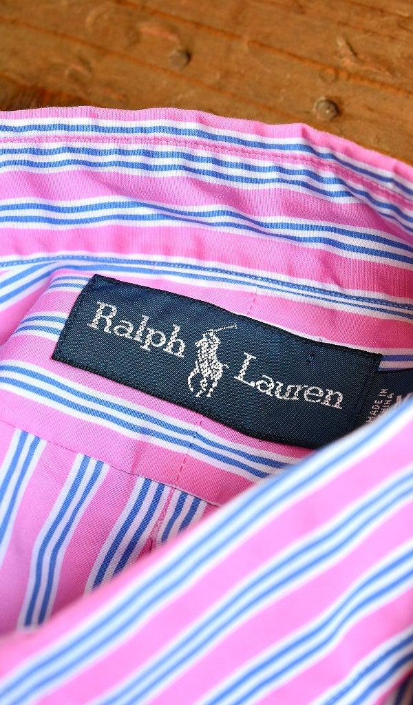 ラルフローレンRLストライプシャツ古着屋カチカチ