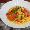 だしがきいて絶品!トマトとニラのふわとろ卵とじ炒めの画像