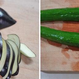画像 あっという間に作れる 茄子ときゅうりベーコンの胡麻醤油和え の記事より 5つ目