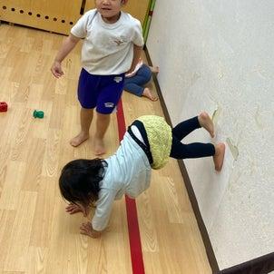 壁逆立ちやってーってお願いすると、保育園でやってくれる次女ちゃん幼児のうちにしっかり身...の画像