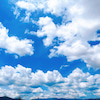 雲に演出された空。の画像