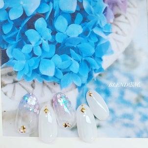紫陽花ネイルの画像