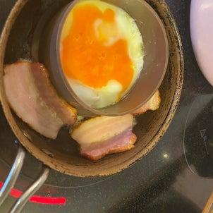 朝マック風の弁当の画像