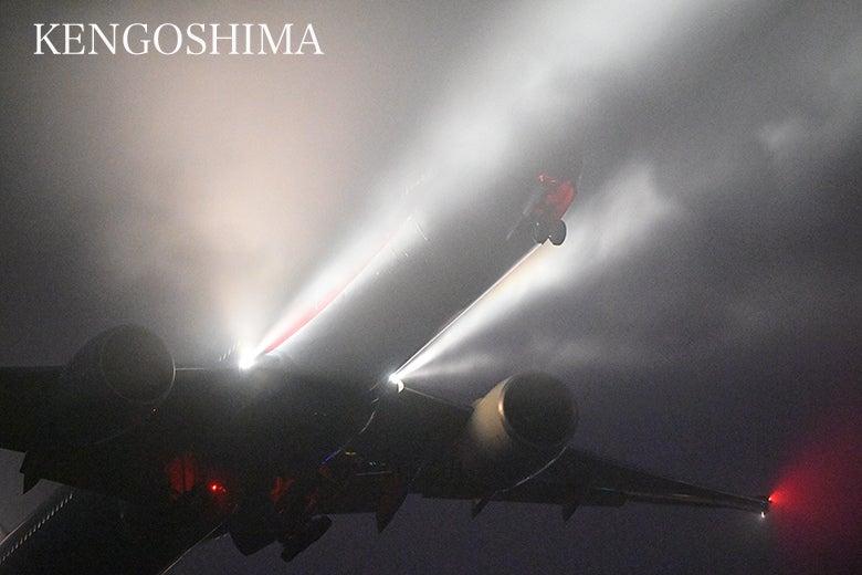 政府専用機 B777 夜間訓練 KEN五島