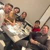 イタリアに戻って友人達とディナーの画像