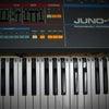 ヴィンテージ シンセサイザーの修理 ローランド JUNO-106ノイズ修理、コーラスノイズ 修理の画像