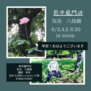 おはようございます!早安(^^)/気功「八段錦」のお時間です。芒種養生の画像