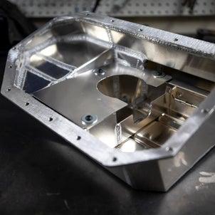 86/BRZ改K20/24A換装進捗情報専用オイルパン、NA8クランク軸式クランク角センサー。の画像