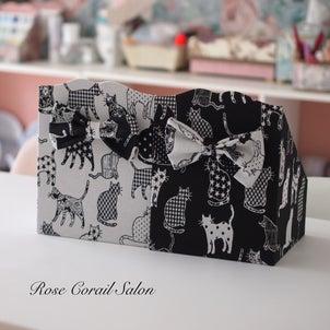 【クリエナージュ作品】お気に入りのフランス猫生地でボックスの画像