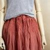 【刺繍入り!】リネンのゴージャススカート。の画像