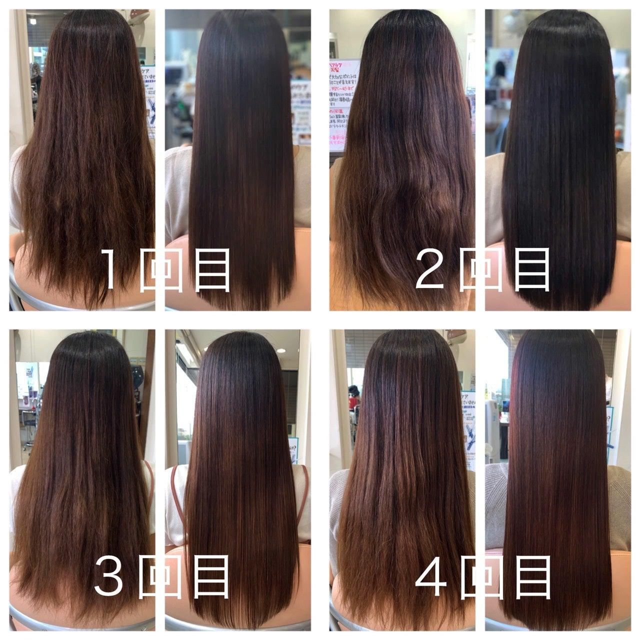 髪質改善プレミアムトリートメント1回、2回、3回、4回!ビフォーアフター!!!