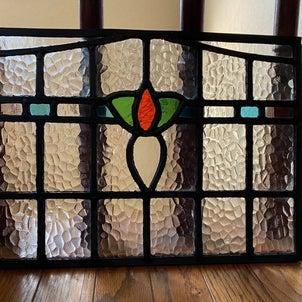 生徒さん作品:建具パネル:ステンドグラスの画像