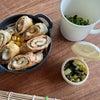 チーズ紫蘇巻き豚竹輪焼き弁当とアラビアータとかき揚げ丼の画像