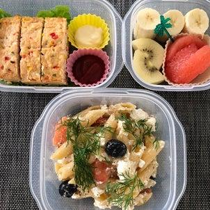 今日のお弁当 チキンローフとデリ風サラダの画像