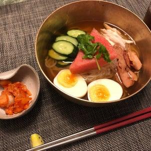 暑い日に美味しい冷麺とコンポートその2の画像