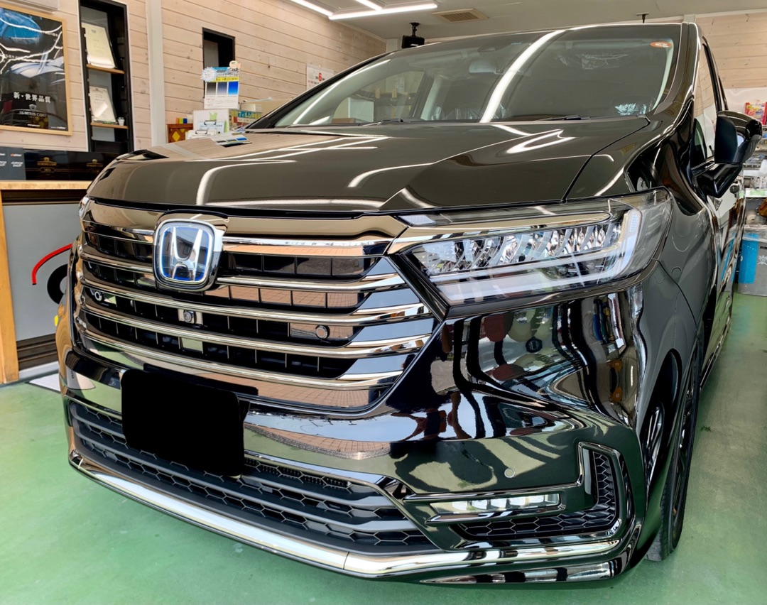 HONDA 新型オデッセイ 新車 リアルガラスコートclassH施工