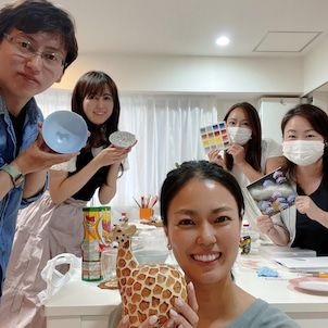 【東京サロンレッスン風景】アールポーセもクリエナージュも!テラス飲みも笑の画像
