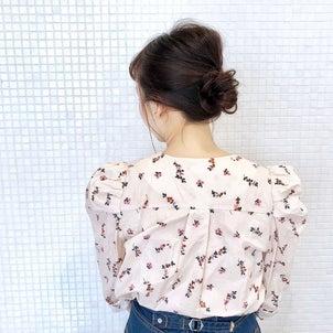 梅雨対策お団子ヘア hair arrange & hair setの画像